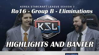 Tasteless and Artosis - KSL Season 3 Ro. 16 Group B Winners/Losers Matches - Highlights and Banter