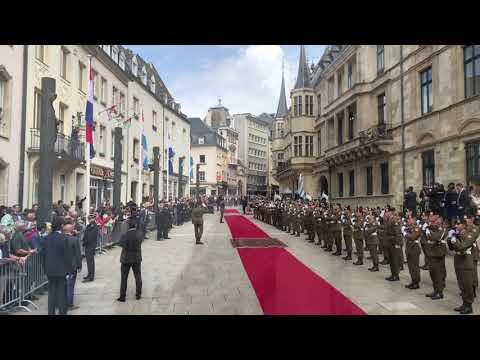 Koning (met Máxima) op staatsbezoek in Luxemburg, deel 1