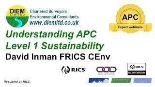 Understanding RICS APC Level 1 Sustainability Competency APC Expert Webinar