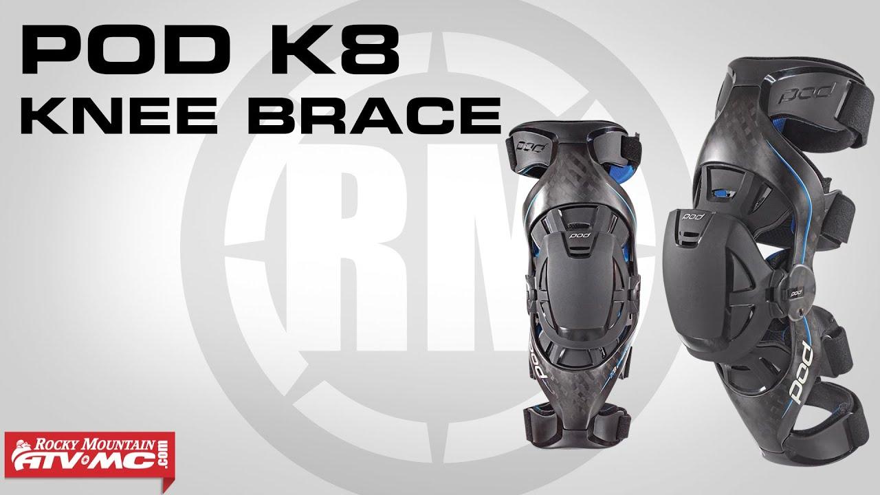 Pod MX Universal Parts Large//X-Large K300 K700 Patella Guard KP200-001-LG//XL