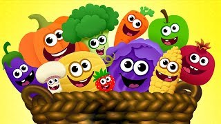 Learn Fruits Veggies With Funny Food - Fun Games For Children