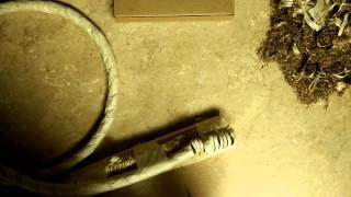 Рез каната Spyderco Paramilitary 2 S30V после заточки на алмазах Fine из набора  Edge Pro(Тест заточки Spyderco Paramilitary 2 S30V на алмазах, угол заточки 35 градусов, манильский пеньковый канат 19 мм., 2015-06-12T17:58:14.000Z)