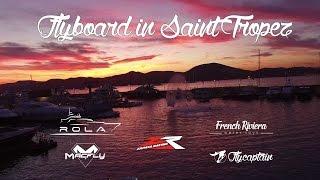 Flyboard Night Demo by Yacht Rola & Flycaptain in Saint Tropez