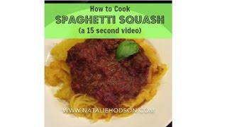 How To Make Spaghetti Squash (a 15-second Video)