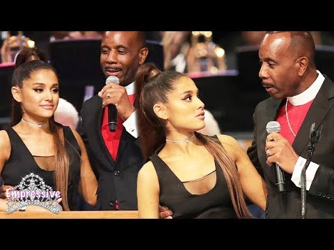 Ariana Grande was touched inappropriately  Bishop Charles Ellis apologizes