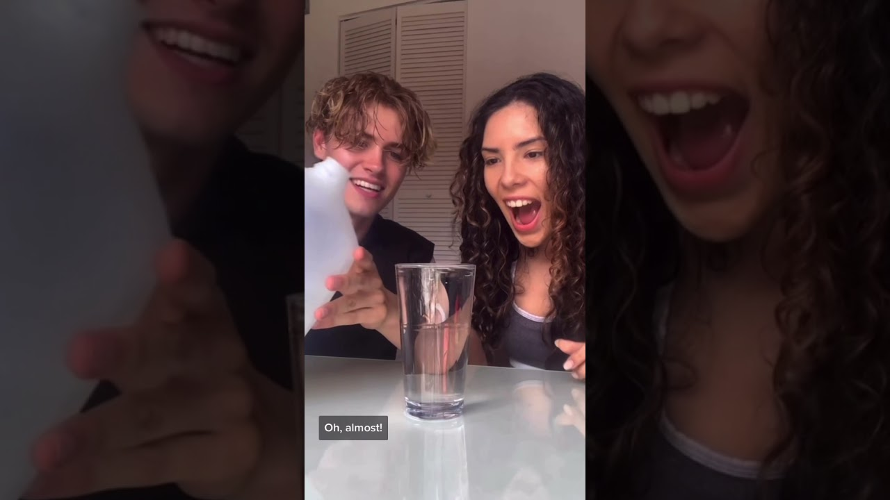 Whoever Spills The Water First Gets SOAKED! | Andrea & Lewis #Shorts