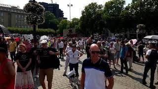 Dortmund  09.08.2020 Querdenken231 Demo Livestream von PatriotOnTour