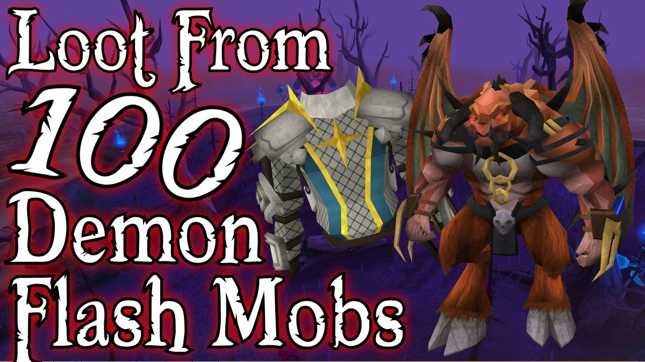 Runescape 3 Loot From 100 Demon Flash Mobs Youtube