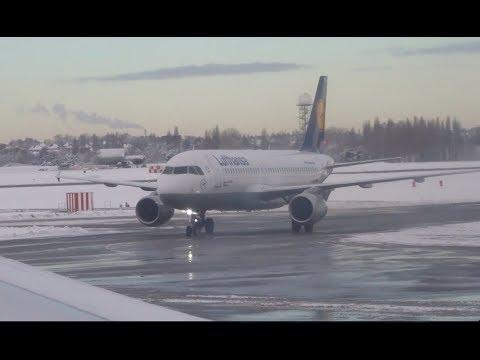 Snow Take off Birmingham Airport December 11th 2017