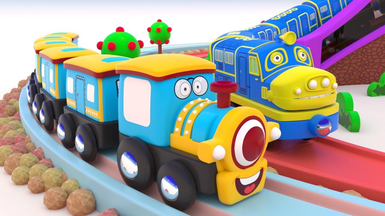 Train City Cartoon - Choo Choo Train - Toy TRAIN CARTOON - Trains for kids