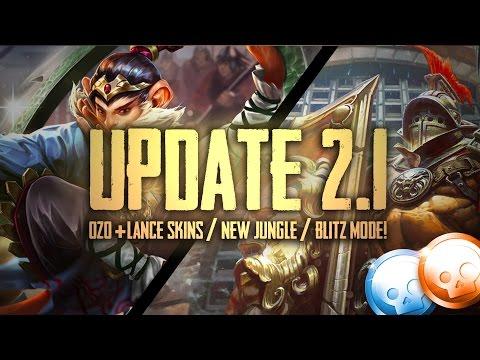 Vainglory News - OFFICIAL UPDATE 2.1!! Skins/Blitz Mode/New Jungle [Gameplay]