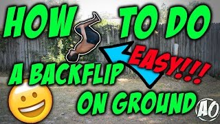 how to do a backflip on the ground easy no fear