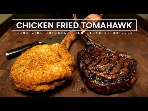 Sous Vide CHICKEN FRIED TOMAHAWK Steaks!