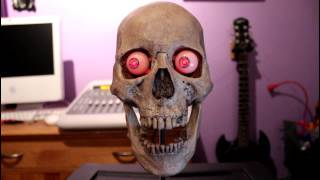 Talking Skull With Moving Eyes and Leds