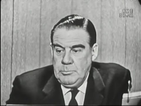 What's My Line?  Jim Piersall; Paul Douglas; Sen. George A. Smathers panel Apr 28, 1957