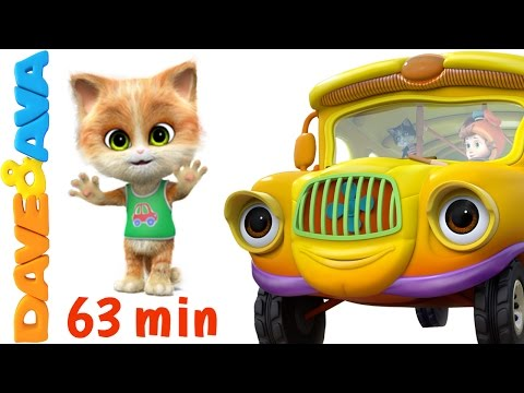 Thumbnail: 🚌 Wheels on the Bus go round and round | Nursery Rhymes Collection from Dave and Ava 🚌