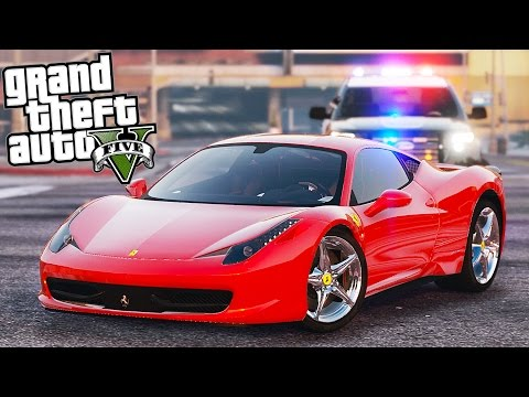 GTA 5 - Evade Ep1 - FERRARI 458 ITALIA POLICE PURSUIT!!
