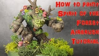 Spirit of the Forest Miniature How to Airbrush Painting Tutorial
