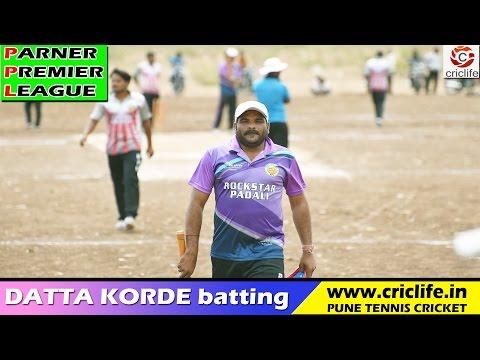 Datta Korde batting in Parner Premier League 2016