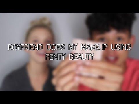 BOYFRIEND DOES MY MAKEUP USING FENTY BEAUTY | Ft BeyondBrandon