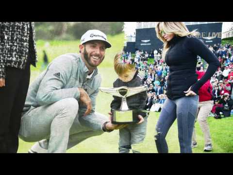 Dustin Johnson: 'I've got a great family and I couldn't be happier'