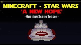Minecraft fan to recreate Star Wars - A New Hope!