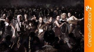 The Walking Dead - Walkers Invasion - Speed art ( #Photoshop CS6 ) | CreativeStation