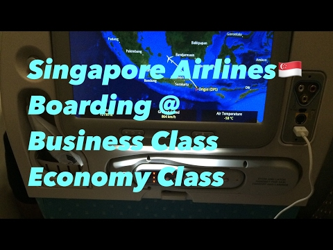 Singapore Airlines🇸🇬 Boarding  Business Class & Economy Class