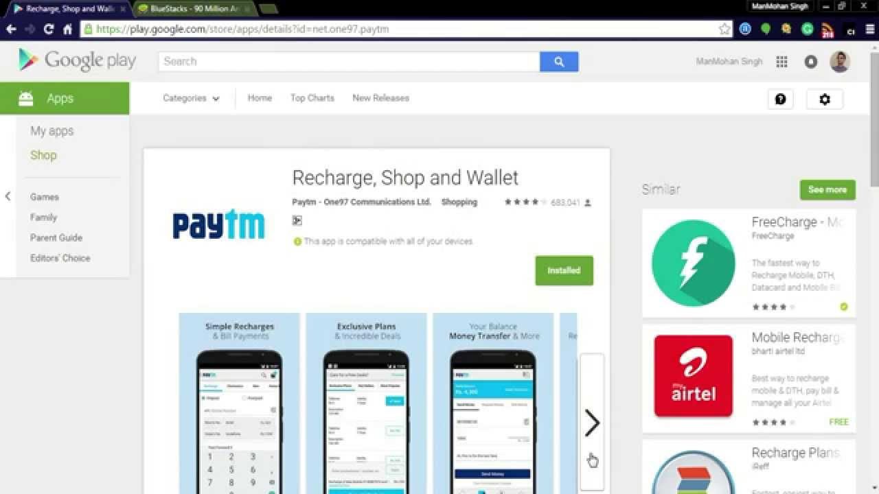 PayTm App for PC/Windows download for 7,8,10,Laptop {**2019 Update**}