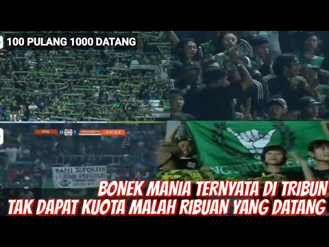 DILARANG,! MALAH RIBUAN BONEK DI TRIBUN STADION MAGUWOHARJO PSS VS PERSEBAYA 2019