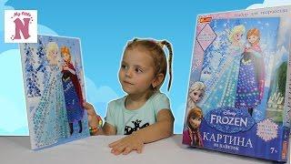 Набор для творчества картина из пайеток Frozen Disney Анна и Эльза