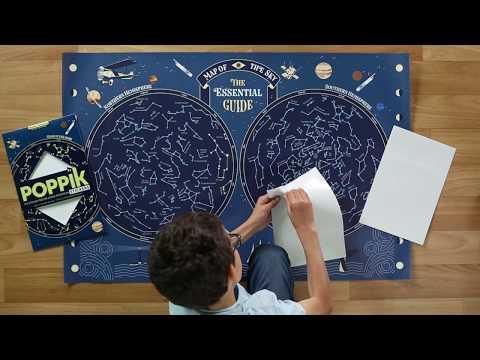 Poppik : la carte du ciel et ses stickers phosphorescents