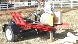 Home Made Wood Splitter Tn.wmv