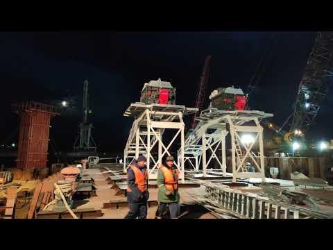 Мост в Климовке  😱😱😱 Единственный в России! Бетонный завод на воде.
