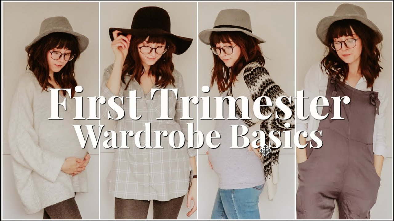 [VIDEO] - FIRST TRIMESTER WARDROBE BASICS | TIPS & OUTFIT IDEAS ON A BUDGET 1