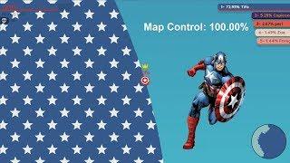 Paper.io 2 Map Control: 100.00% [Captain America] World Epic Kills