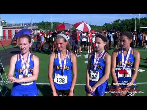Fatima Girls go 2-3-4-7 in C3 3200m at 2018 MO State Track