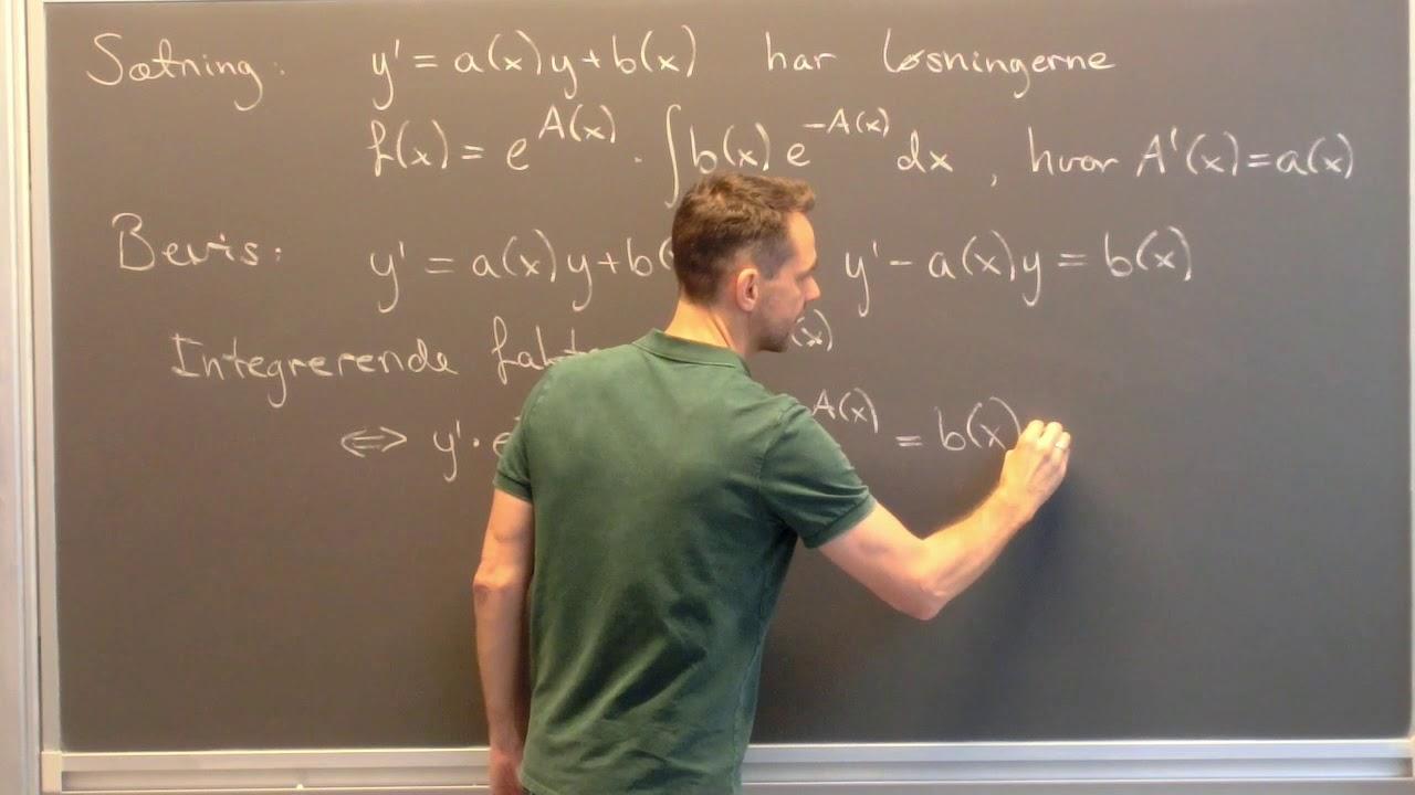 Lineære differentialligninger bevis