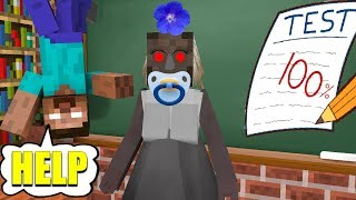 - Monster School GRANNY HORROR GAME CHALLENGE Minecraft Animation