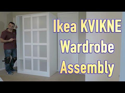 Ikea Kvikne Wardrobe With 2 Sliding Doors Assembly Youtube