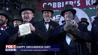 FOX 5 LIVE (2/2): Happy Groundhog Day; Michelle Obama keynotes school counselor