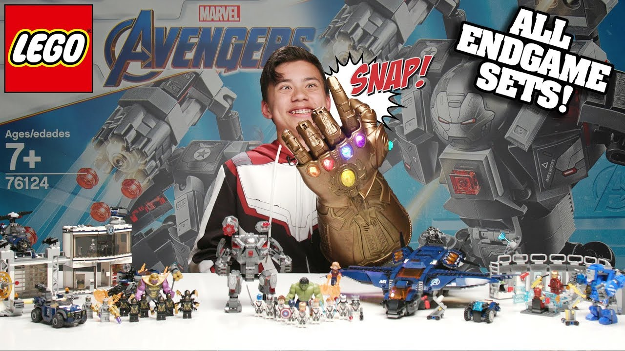 WAR MACHINE BUSTER - ALL LEGO Avengers Endgame Sets 76124 - Time-lapse Speed Build & Review!