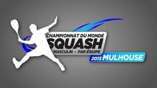 France v England Semi Final World Men's Team Squash Championship 2013