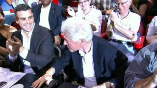 Presidential Moment: Bill Clinton honored at Magic / Heat.