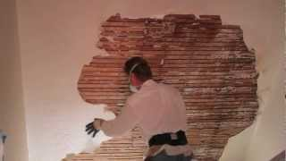 Remove and repair or render interior plaster on walls or ceilings,  lathe and plaster