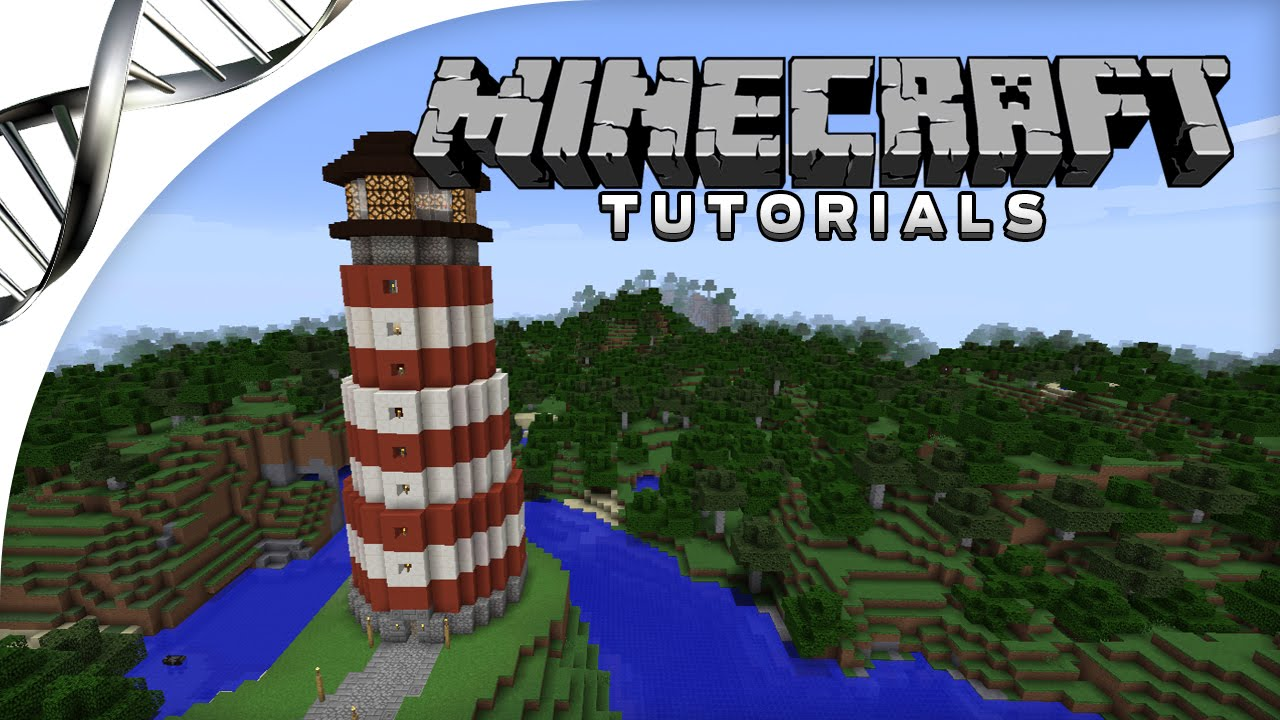 Minecraft tutorial how to build a lighthouse with for How to light a house