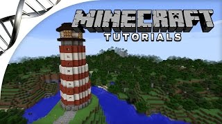 Minecraft Tutorial | How to Build a Lighthouse with Redstone Rotating Light