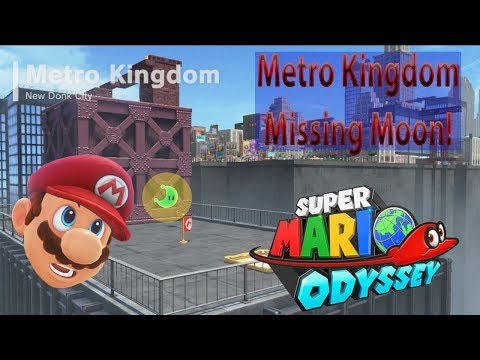 Metro Kingdom / New Donk City Missing Moon! - Super Mario Odyssey - Ginormous Gaming