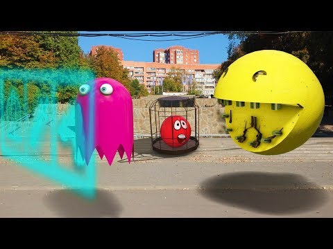 Real Life Pacman & Red Ball