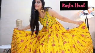 SUMMER KURTA HAUL | FROM CASUAL TO PARTY | Sana K